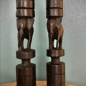 Other - African Elephant Candlesticks